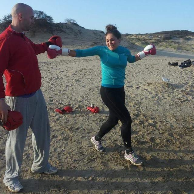 Kickboksen strand viev1 bollenstreek
